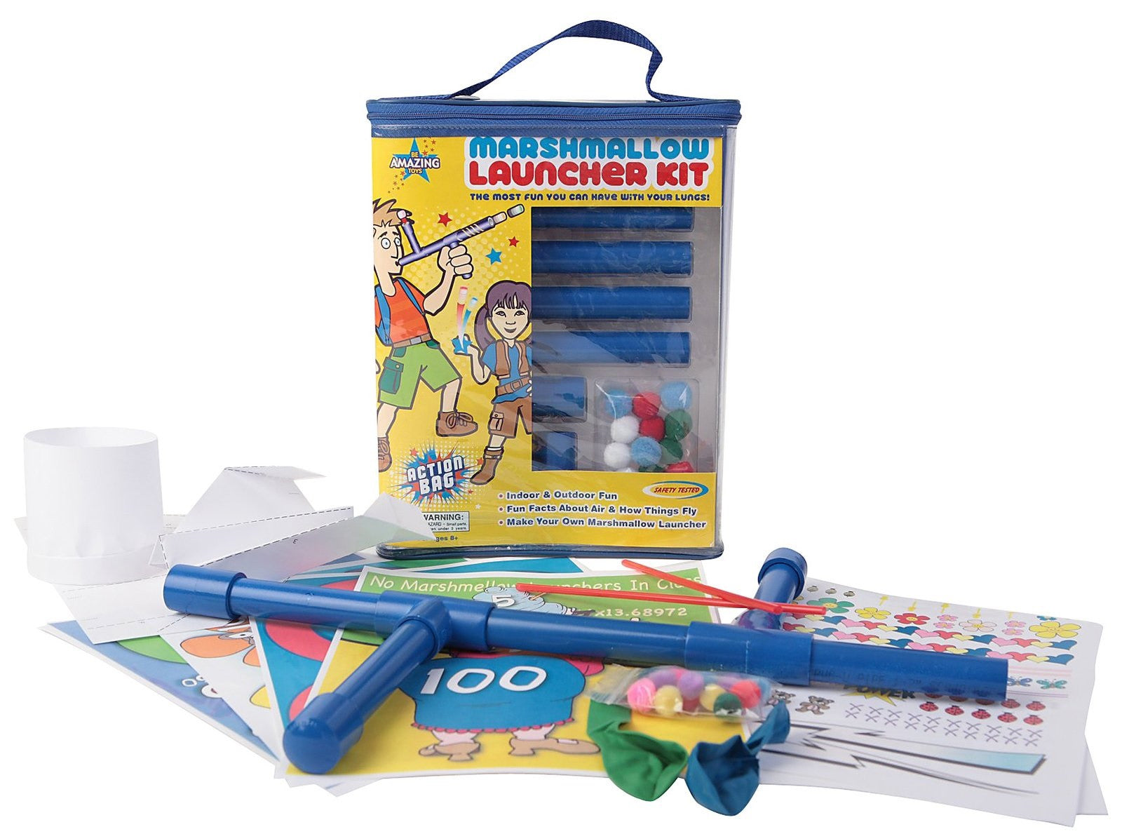 Be Amazing! Action Bag Marshmallow Launcher Kit - Off The Wall Toys and Gifts
