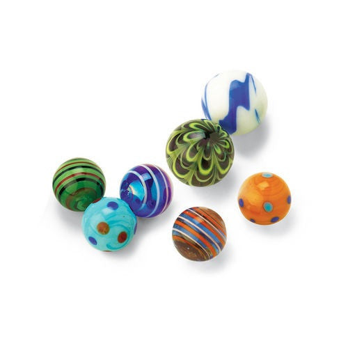 GeoCentral - Marvelous Marbles- 25 Medium 20mm Art Glass Netted Assortment - Off The Wall Toys and Gifts