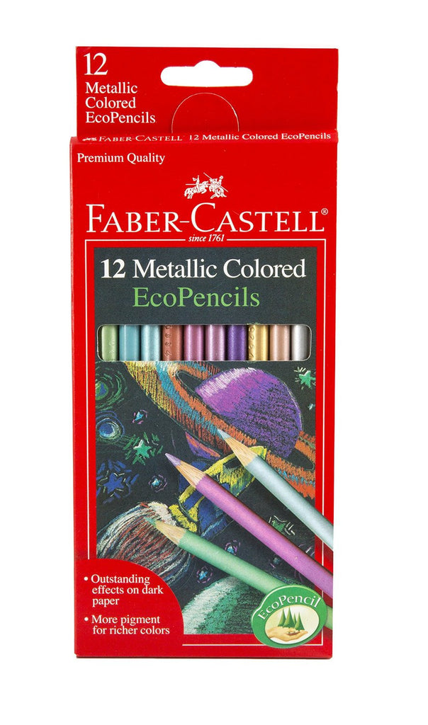 12 Count Metallic Colored Eco Pencils by Faber-Castell