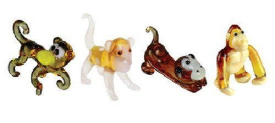 Looking Glass Torch - Jungle Figurines - 2 Monkey, Chimp & Gorilla (4-Pack) - Off The Wall Toys and Gifts