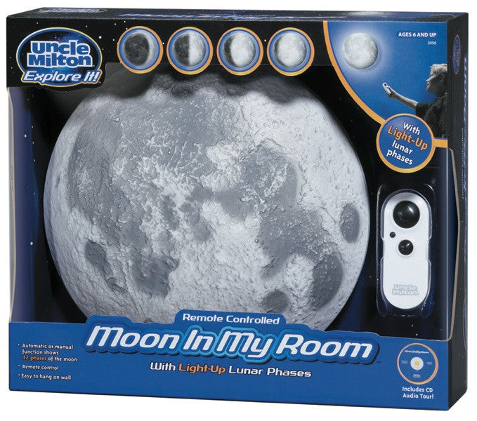 Moon In My Room Remote Controlled With Lunar Phases - Off The Wall Toys and Gifts