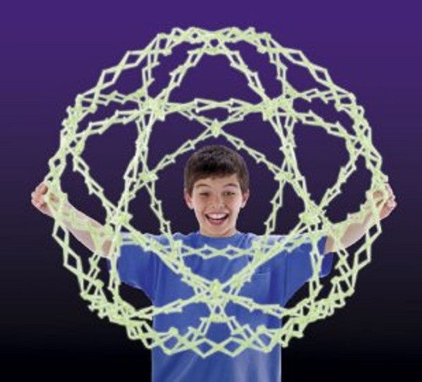 Moon Glow Hoberman - Large Transforming Sphere - All Glow in the Dark - Off The Wall Toys and Gifts