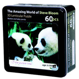 3D Lenticular Puzzle From Steve Bloom Images - Mother and Baby Panda (60 Pieces) - Off The Wall Toys and Gifts