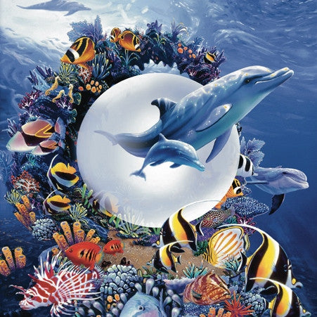 Magical Kingdom - Ocean, Dolphin & Sea Life Mini Jigsaw Puzzle 100 Piece - Off The Wall Toys and Gifts
