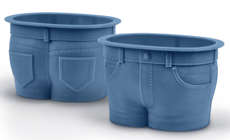 Fred MUFFIN TOPS Denim-Style Baking Cups, Set of 4