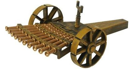 Multi-Barreled Cannon Leonardo da Vinci Assemble Set - Off The Wall Toys and Gifts