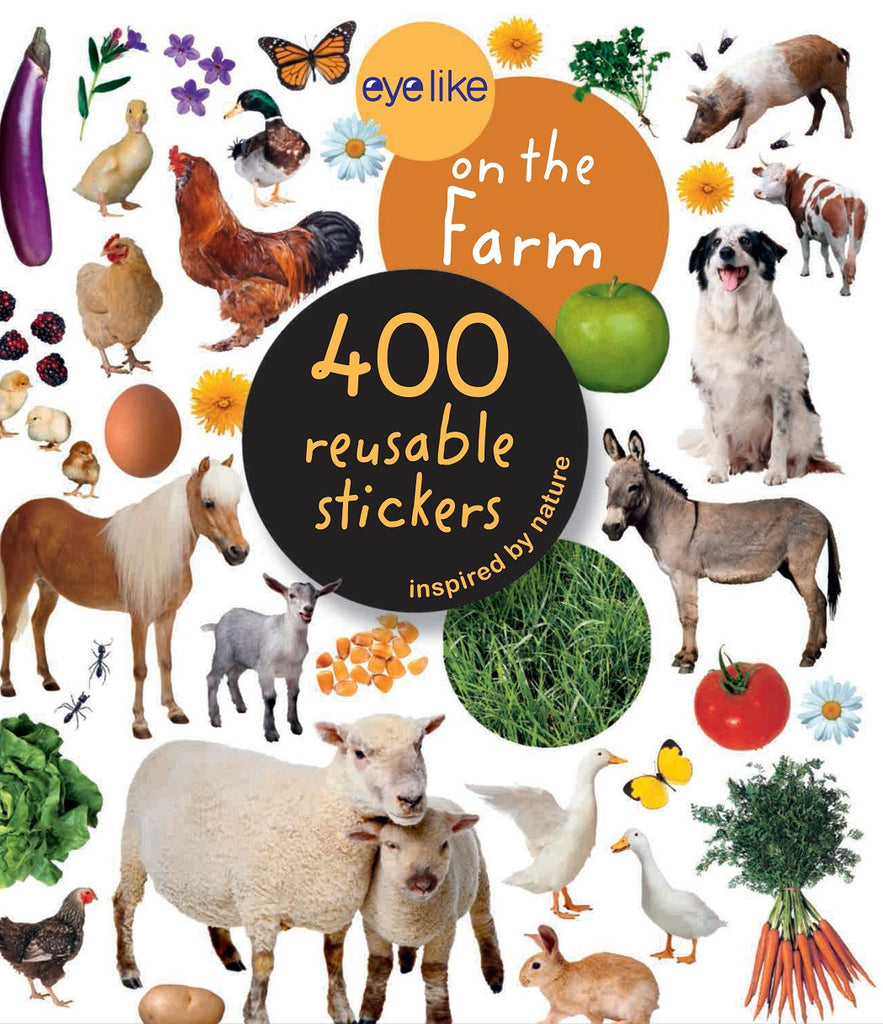 Eyelike Sticker Book: On The Farm w/400 Reusable Stickers