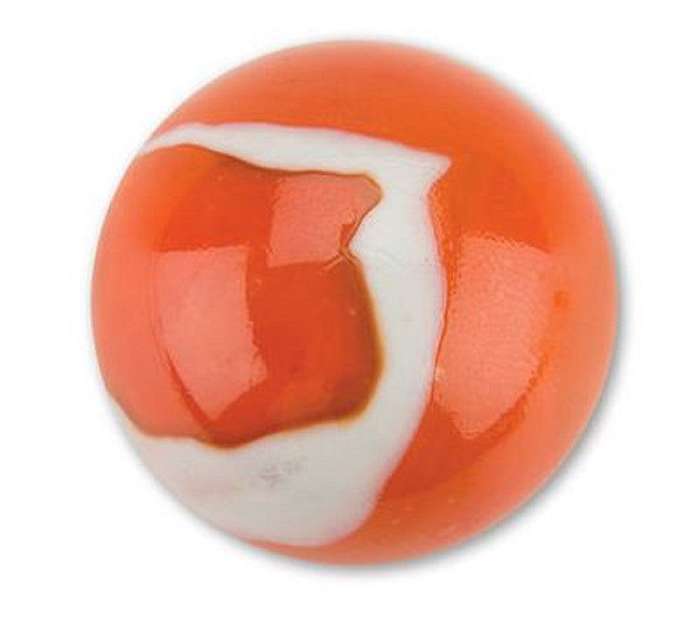 Mega Marble - Orange Cream Mammoth - Large 1-5/8 Inch Glass Marble - Off The Wall Toys and Gifts