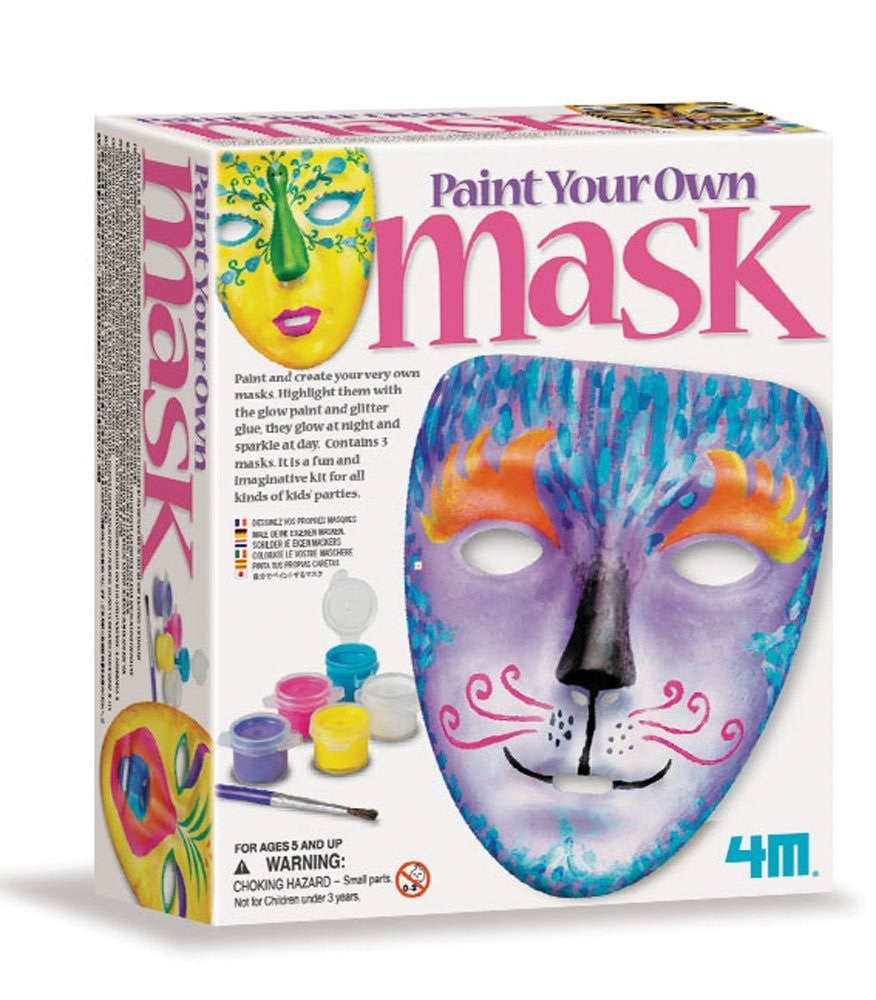 Paint Your Own Mask a 4M Kit from Toysmith  w 3 Masks