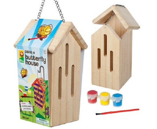 Paint A Butterfly House - Wooden Garden Craft Kit - Off The Wall Toys and Gifts