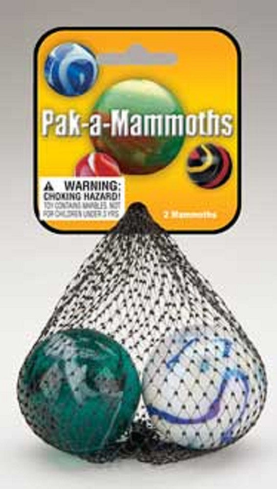 Mammoth Mega Marbles 4 Pack Large Shooters Colors Vary - Off The Wall Toys and Gifts
