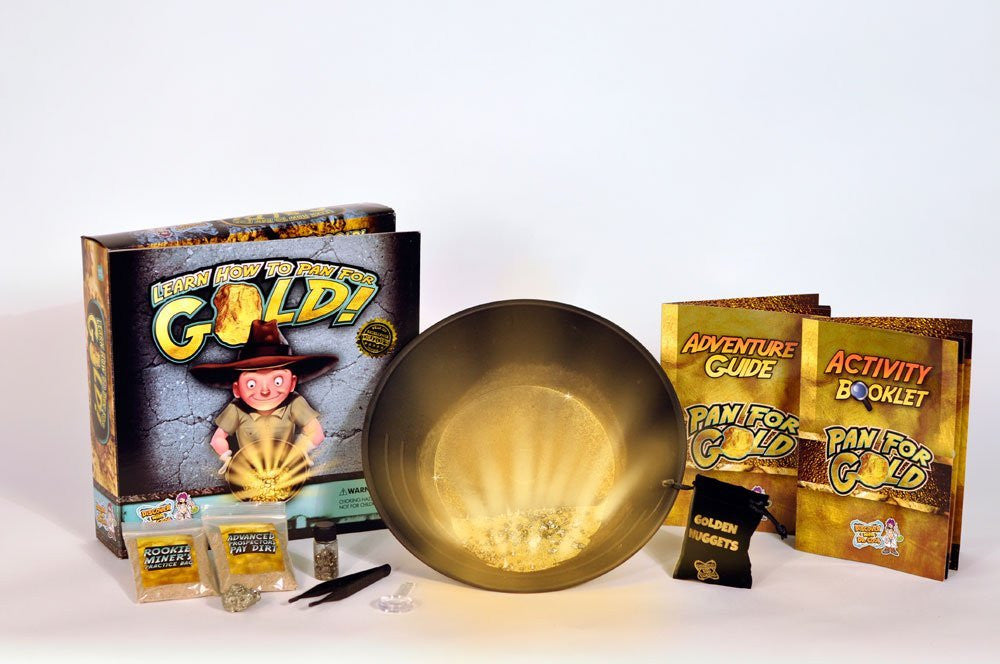 Pan for Gold Science Kit - Childrens Gold Prospecting Kit - Off The Wall Toys and Gifts