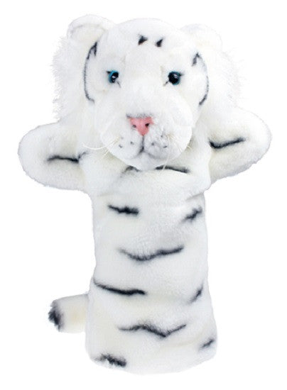 Long Sleeved - 15 Inch Glove Puppet - WHITE TIGER - Collectible Hand Puppet Character - Off The Wall Toys and Gifts
