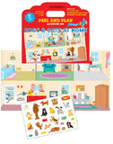 Mrs Grossman's Stickers - Dogs & Cats At Home Peel & Play Activity Set - Off The Wall Toys and Gifts