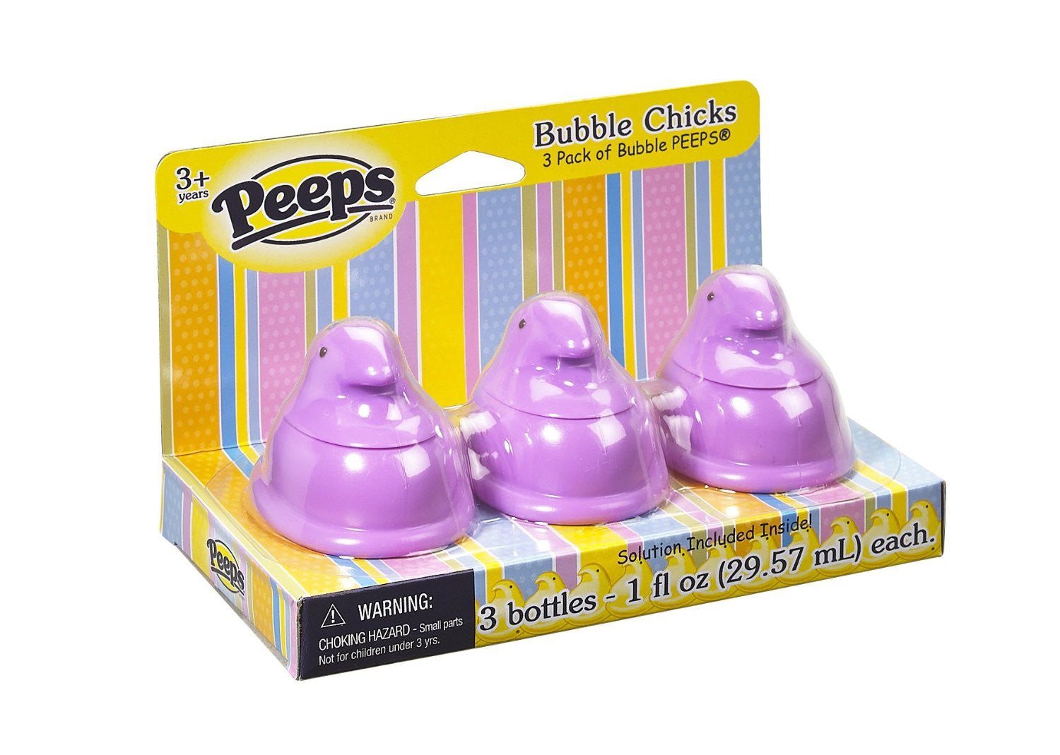 Peeps Bubble Chicks Purple by Little Kids - Pack of 3 Bubbles Bottles - Off The Wall Toys and Gifts