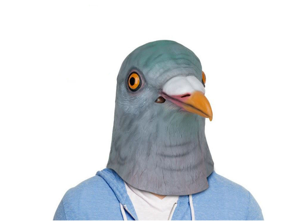 Latex Pigeon Mask -  Halloween Costume - Mardi Gras