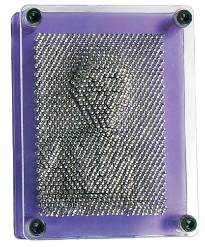 Pin Art 3-D Sculpture with Translucent Purple Frame - Off The Wall Toys and Gifts