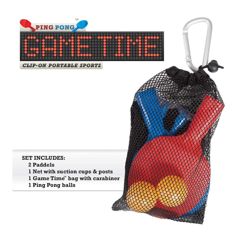 Ping Pong Game Time Clip-On Portable Sports - Off The Wall Toys and Gifts