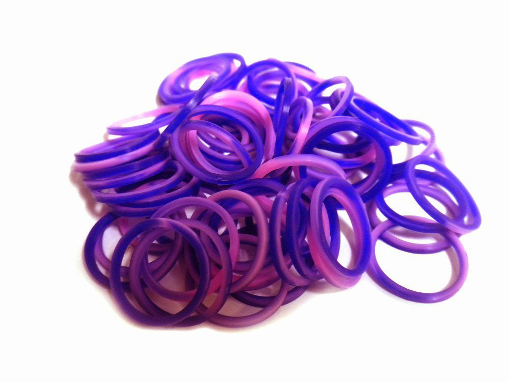 FunLoom Silicone Bands - Pink And Purple - Off The Wall Toys and Gifts