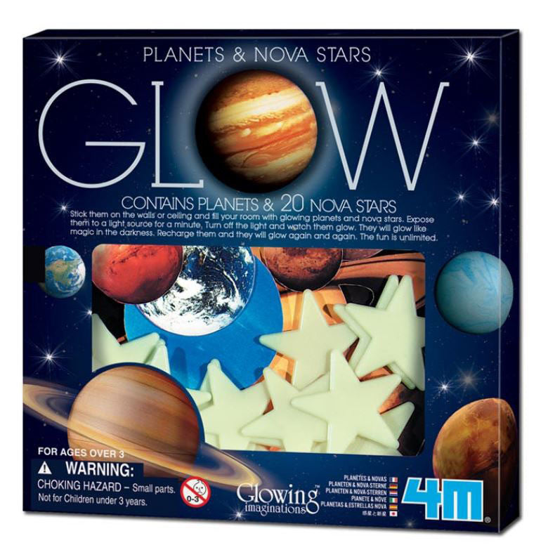 Planets & Nova Stars Glow 4M Kit By Toysmith - Off The Wall Toys and Gifts
