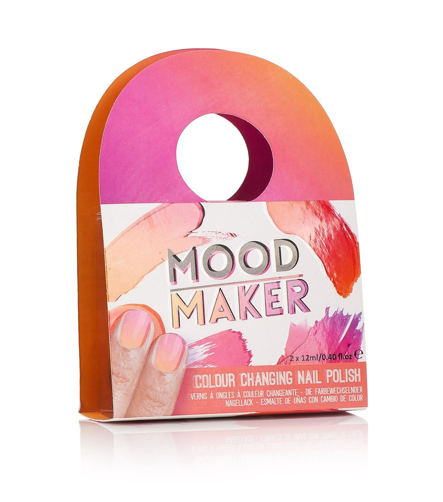 Mood Maker Color Changing Nail Polish - Coral & Orange