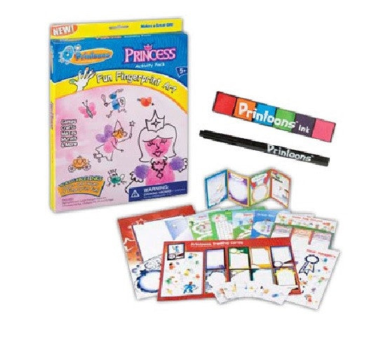 Princess Printoons: Fun Fingerprint Large Art Activity Kit - Off The Wall Toys and Gifts