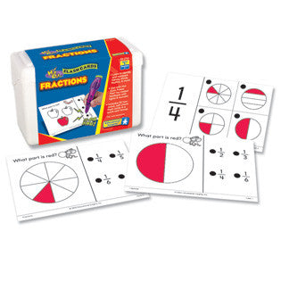 Hot Dots Fractions Flashcards - Grade 1+ - Off The Wall Toys and Gifts