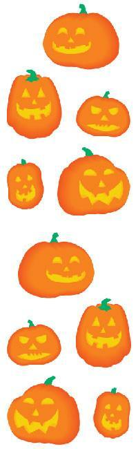 Full Roll - Mrs Grossman's Stickers - Halloween Pumpkins