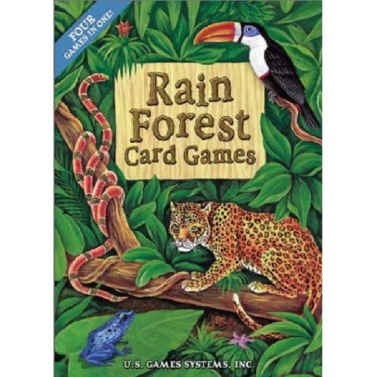 4-In-One Rain Forest Games Deck of Playing Cards