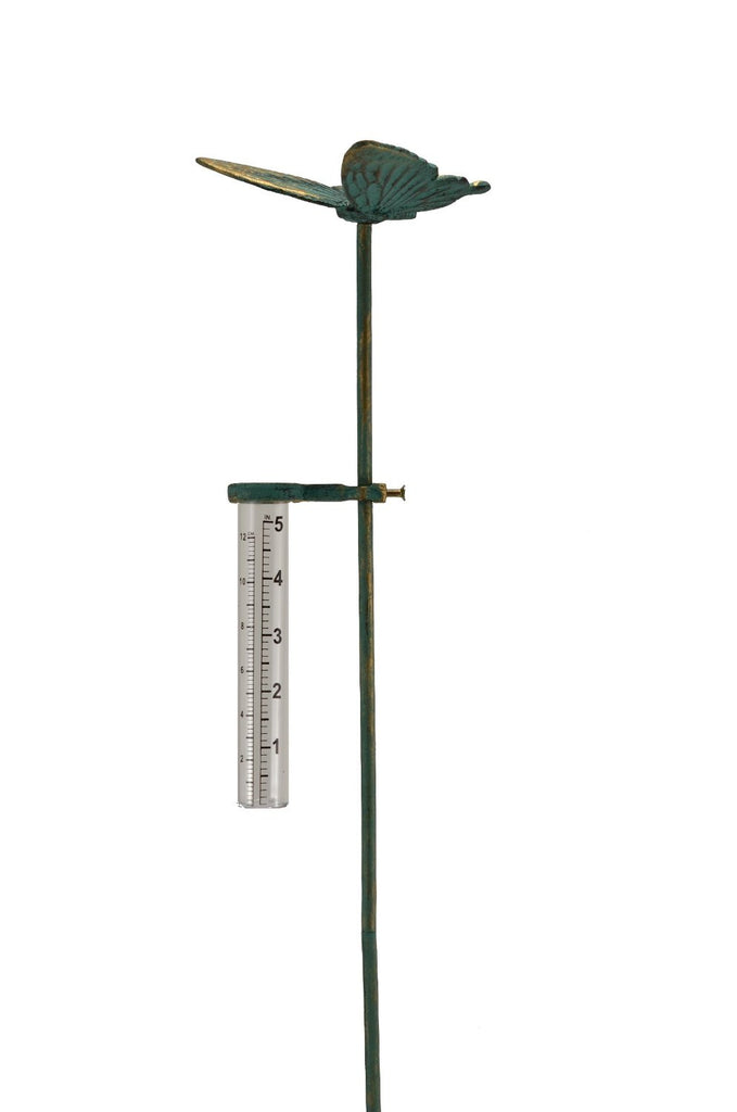 Cast Iron Butterfly Rain Gauge Garden Decoration