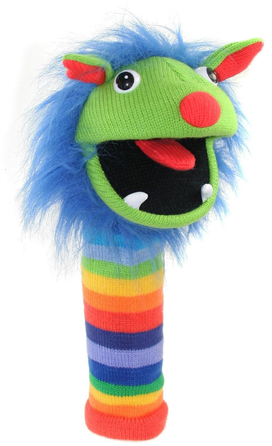 Mini Rainbow Knitted Finger Puppet by The Puppet Company - Off The Wall Toys and Gifts