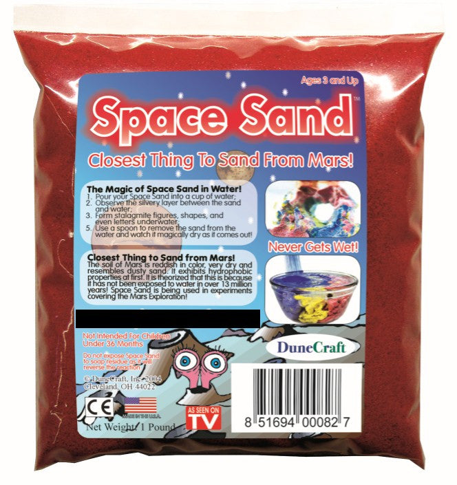 Red Space Sand: 1lb of Hydrophobic Sand - Off The Wall Toys and Gifts