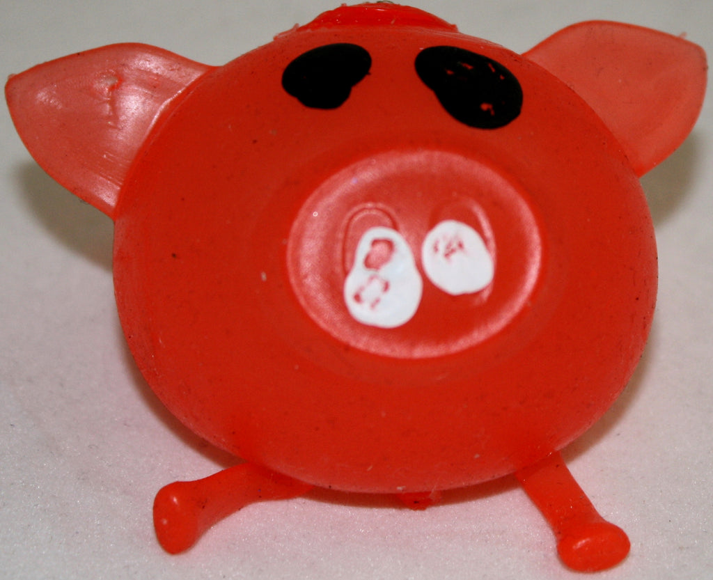 Splat Ball Novelty Squishy Toy Red Pig