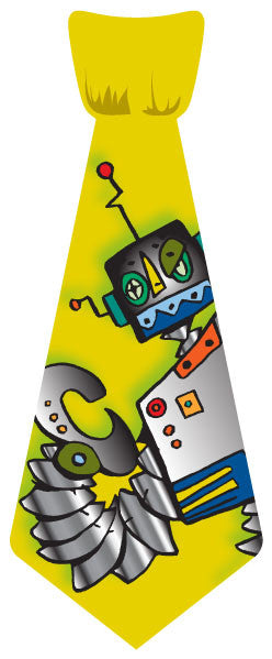 EvREwares Sticky Tie Lil' Guy Robot Wearable Fabric Stickers - Off The Wall Toys and Gifts