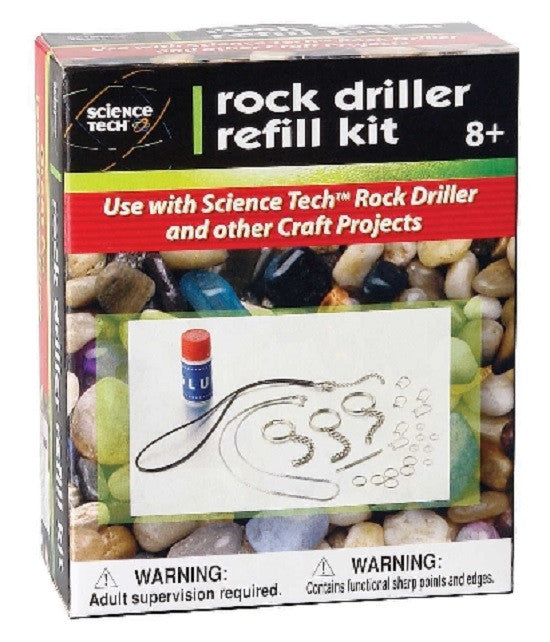 Rock Driller REFILL for Safe Stone Drilling and Jewelry Making Kit - Off The Wall Toys and Gifts