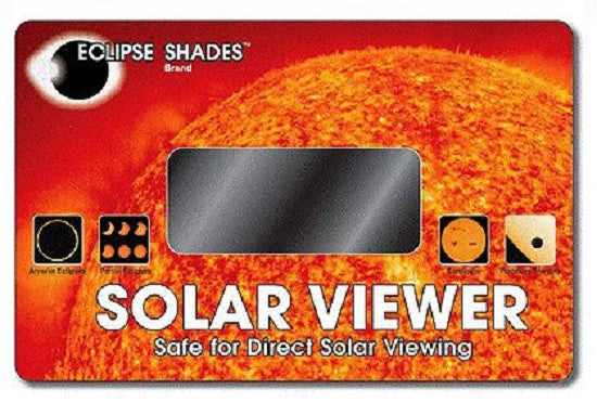 #14 Welder's Glass Solar Eclipse and Sun Viewer-Pleasing Green Image of Sun CE Certified Safe