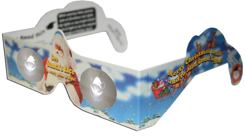 Santa Holiday Specs Holographic Glasses Quantity Discounts - Off The Wall Toys and Gifts