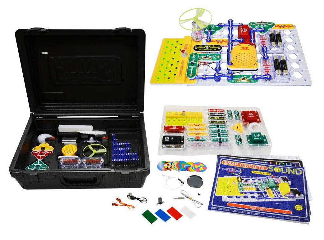 Elenco Snap Circuits Deluxe Light Sound Combo Kit Off The Wall