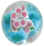 "22mm Handmade Art Glass ""Wisteria"" Marble w Stand - Color Varies"