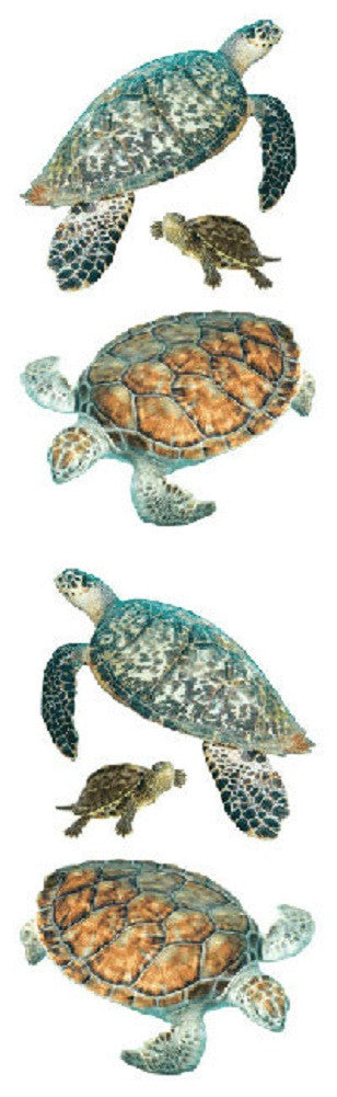 Mrs Grossman's Stickers -  Sea Turtle Animal Photos - Off The Wall Toys and Gifts