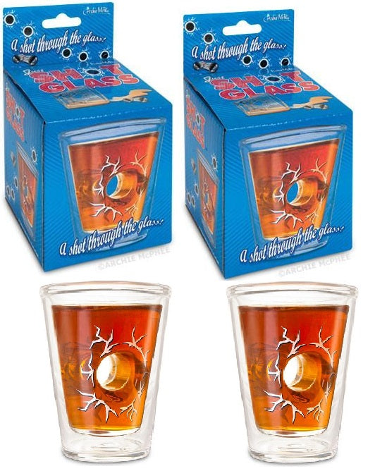 One Pair of Just Shot Glass - Insulated, Double Wall Construction