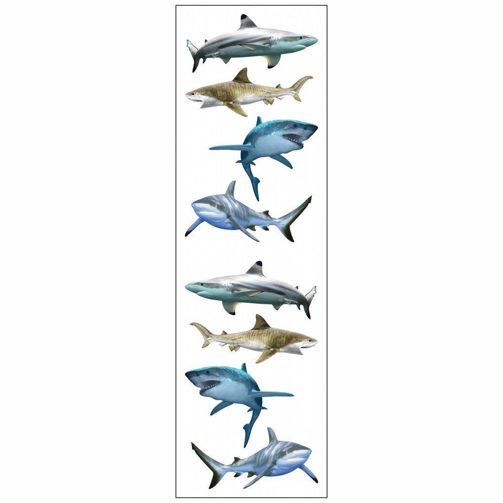 Mrs Grossman's Stickers - Shark World Animal Photos - Off The Wall Toys and Gifts