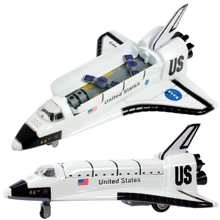 8 Inch Die Cast & Plastic Space Shuttle Pullback Toy - Off The Wall Toys and Gifts