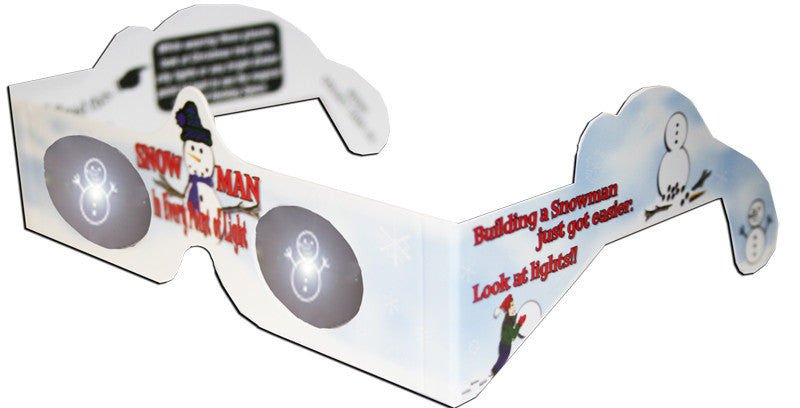 Snowman Holiday Specs Holographic Glasses Quantity Discounts - Off The Wall Toys and Gifts