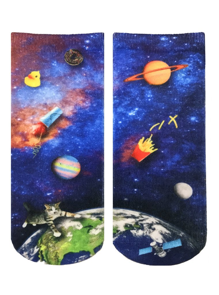 Space Junk Ankle Socks OSFM by Living Royal