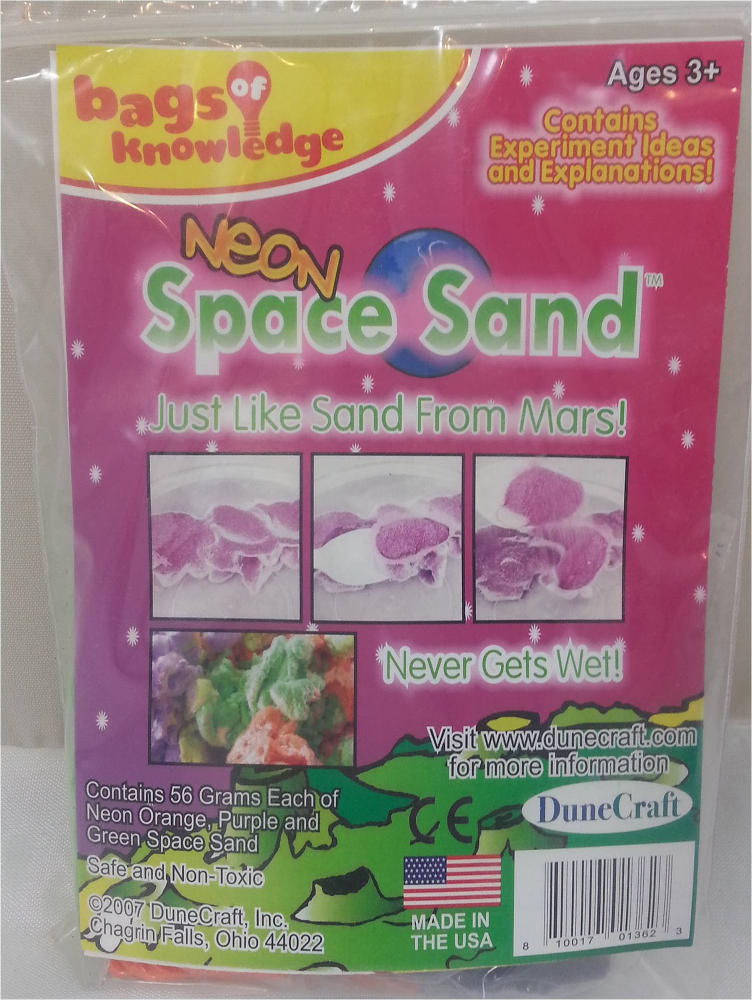Neon Space Sand Bag of Knowledge - Off The Wall Toys and Gifts