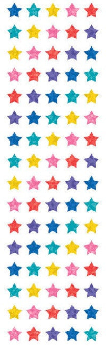 Mrs Grossman's Stickers - Multi Color Sparkle Micro Stars - Off The Wall Toys and Gifts