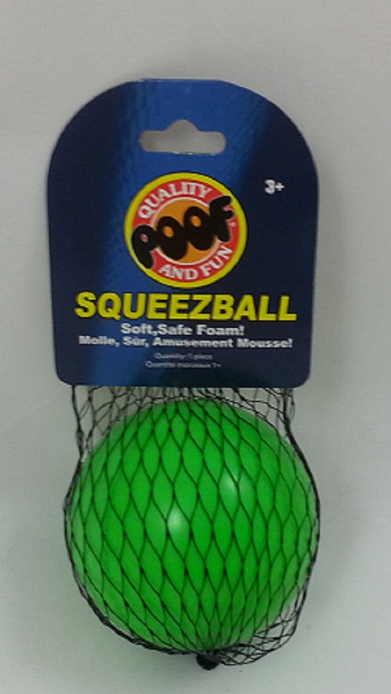 Poof-Slinky SqueezBall - Green Soft Foam Ball - Off The Wall Toys and Gifts