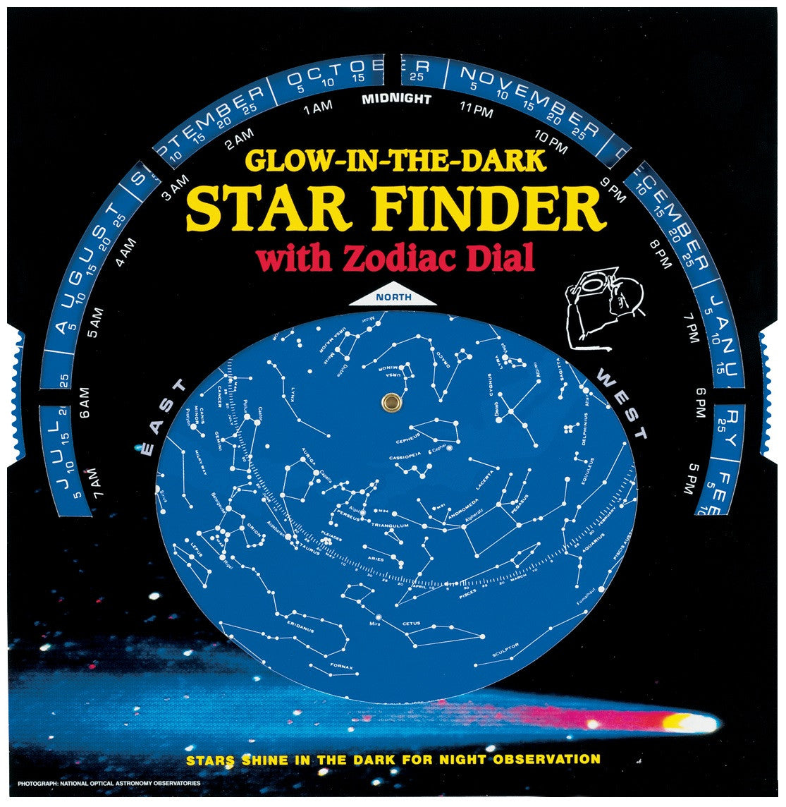 Glow in the Dark Star Finder with Zodiac Dial - Off The Wall Toys and Gifts