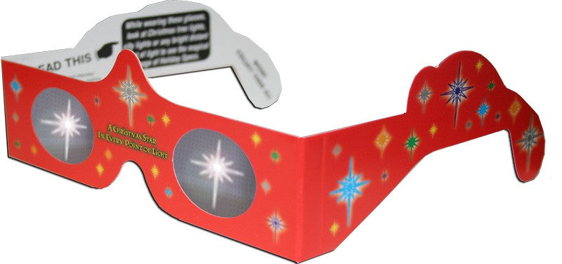 Star Holiday Specs Holographic Glasses Quantity Discounts - Off The Wall Toys and Gifts